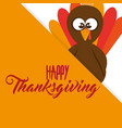 happy thanksgiving day card vector image