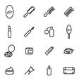 line cosmetics icon set vector image