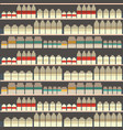seamless pattern of dairy department milk shelf vector image