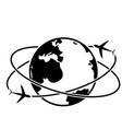 travel around the world symbol vector image