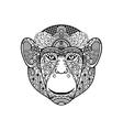 Zentagle monkey head vector image