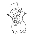Cartoon snowman icon vector image