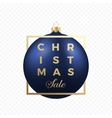 Christmas Sale Banner or Sticker Blue Ball on vector image