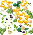 Seamless ornament vegetarian fresh juicy vegetable vector image vector image