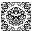 Sqaure-polish-folk-pattern-1b-monochrome vector image