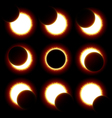 Solar Eclipse phases vector image