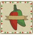 chilli pepper decoration vector image
