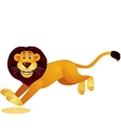 lion running vector image vector image