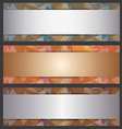 The Metallic Banner Abstract Template vector image vector image