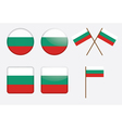 badges with flag of Bulgaria vector image vector image