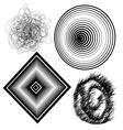 Beautiful black and white abstract backgro vector image