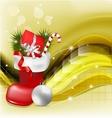 Christmas jackboot decorative background vector image