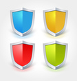 Colorful Shield Icons vector image