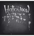 Halloween text design on chalkboard vector image