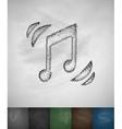 music icon Hand drawn vector image