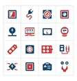 Set color icons of electricity vector image