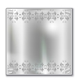 silver plate vector image