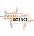 word cloud social science vector image