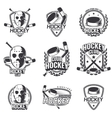 Sports logos for hockey vector image
