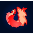 Fiery red cock Background vector image