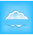 blue background with cloud vector image vector image