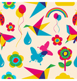 Colorful summer origami pattern vector image