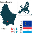 Luxembourg and European Union map vector image