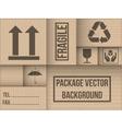 Background of cardboard package vector image