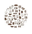 home equipment icons in circle vector image