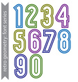 Sans serif geometric numbers colored smooth tall vector image