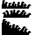 pigeon heads vector image