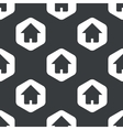 Black hexagon home pattern vector image