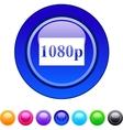 1080p circle button vector image vector image
