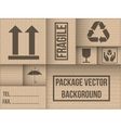 Background of cardboard package vector image