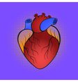 hand drawn pop art of heart vector image