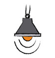 lamp bulb light ceiling decoration icon vector image