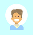 male winking emotion profile icon man cartoon vector image
