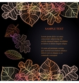 Ornamental background with art autumn leaves on vector image