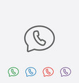 phone handset in speech bubble icon vector image