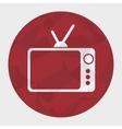 retro tv silhouette icon vector image