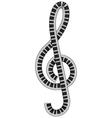 treble clef vector image