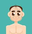 Plastic surgery man vector image