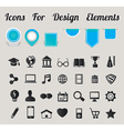 Icons For Design Elements vector image vector image