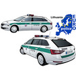 lithuania police car vector image vector image