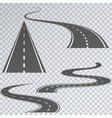 road with white stripes on a plaid background set vector image