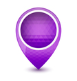 Purple round 3D map pointer vector image