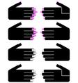 Hand woman vector image