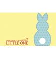 Single boy rabbit wording vector image vector image