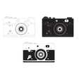 Retro camera in different design options vector image