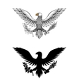 American eagle holding branch and arrows vector image vector image